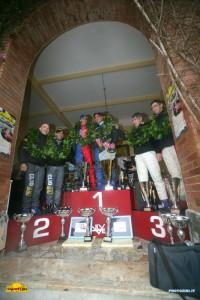 rally Elba 2011: il podio con Bettini secondo assoluto