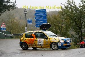 Fanucchi in azione al Renault Rally Event 2012 (Bibbiena)