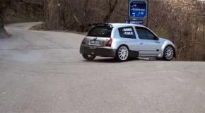 Borgogno-Barone al via del Rally Appennino Ligure su Clio s1600