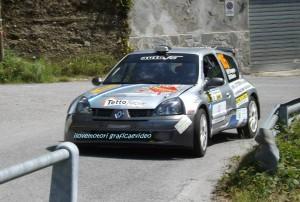 Borg durante lo shakedown del rally Appennino Ligure 2013